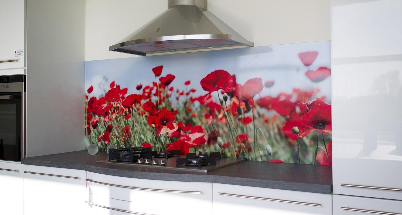 Fotobehang Keuken Achterwand : Foto spatwand: Een originele achterwand in de keuken